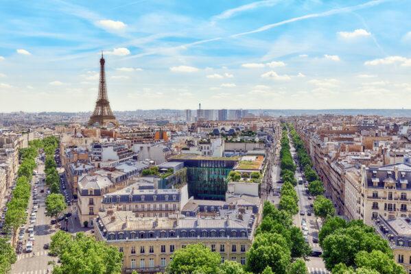 Frankreich Paris Aussicht auf Eiffelturm