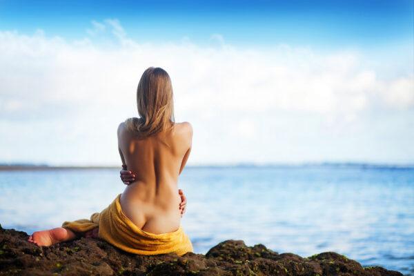 Frau FKK Urlaub