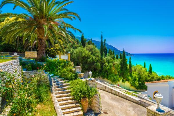 Griechenland Korfu Agios Georgios Pagon Stadt