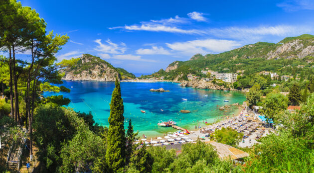 Griechenland Korfu Agios Georgios Palaikastritsa