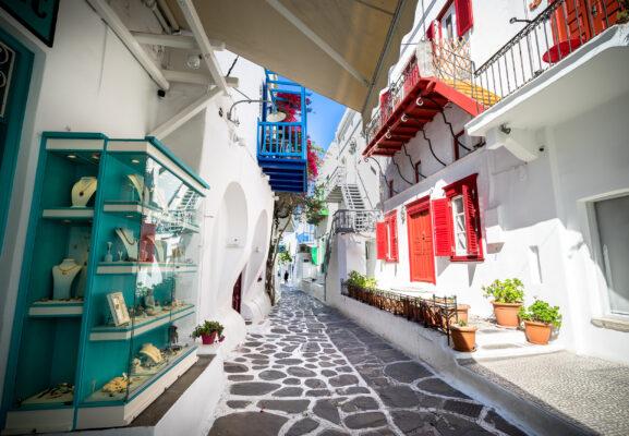 Griechenland Mykonos Häuser
