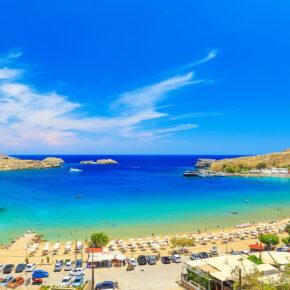 Griechenland Rhodos Strand Sand