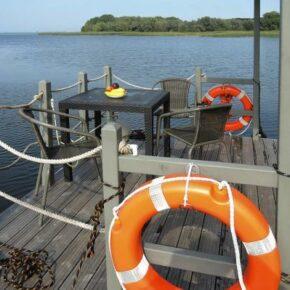 Hausboot Kamien Pomorski Terrasse
