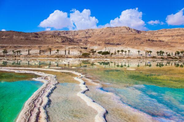 Israel Totes Meer Salzstreifen