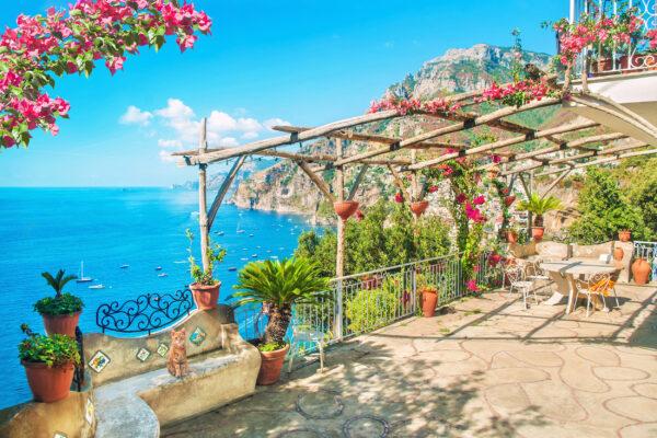 Italien Amalfi Positano Terrasse