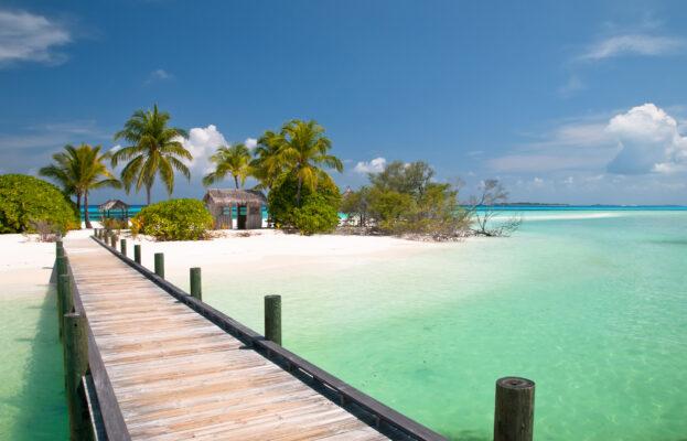 Karibik Holzsteg Meer