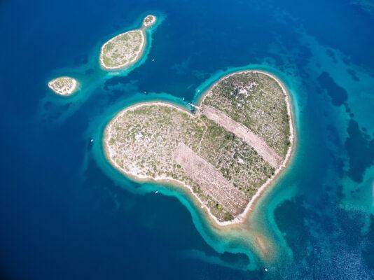 Kroatien Galesnjak Herzform