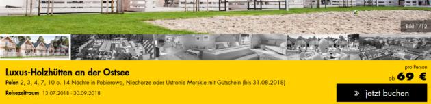 3 Tage Holzhütte Ostsee