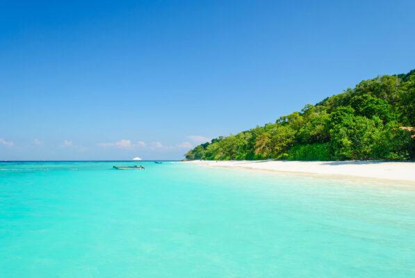 Malediven Türkises Wasser