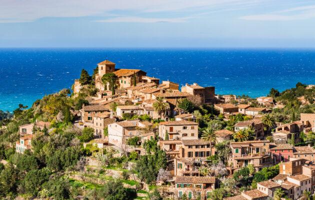 Mallorca Deia Häuser Ausblick