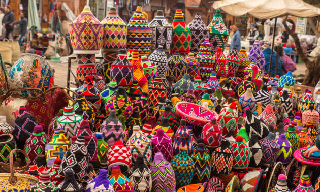 Marokko Marrakesch Souk Güter