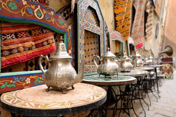 Marokko Marrakesch Teekanne