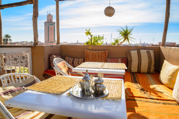 Marokko Marrakesch Terrasse