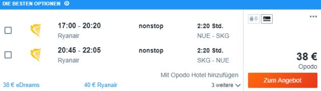 Nürnberg nach Thessaloniki