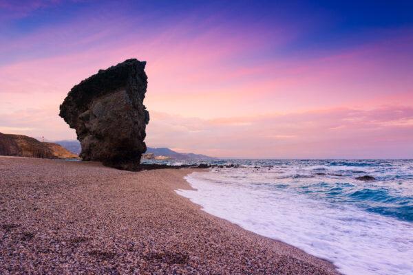 Spanien Almeria Playa de Los Muertos