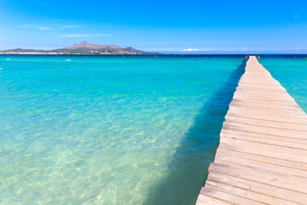 Spanien Mallorca Platja de Muro Steg