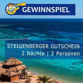 Gewinnspiel: 3 Tage Luxus-Trip in ein Steigenberger Hotel Eurer Wahl für 2 Personen