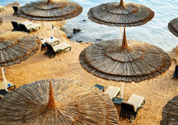 Tunesien Strandschirme