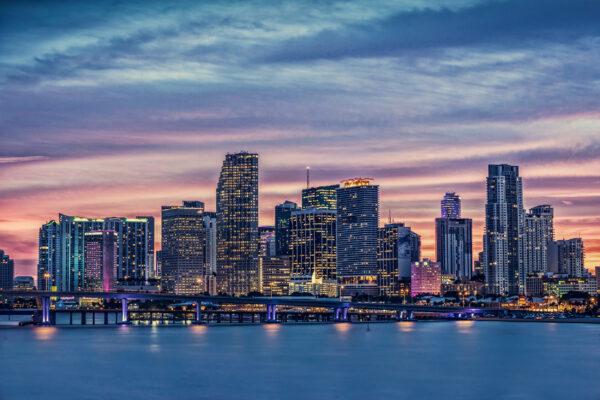 USA Florida Miami Nachtlichter