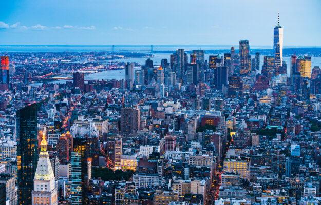 USA New York Manhattan Abendlicht
