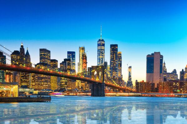 USA New York Manhattan Nachtlichter