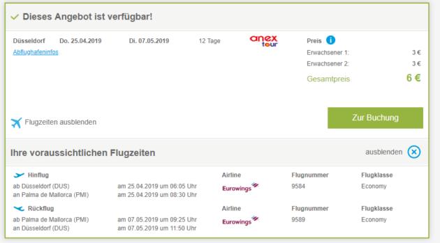 Lastminute Flüge Nach Mallorca Hin Zurück Mit Gepäck Nur 3