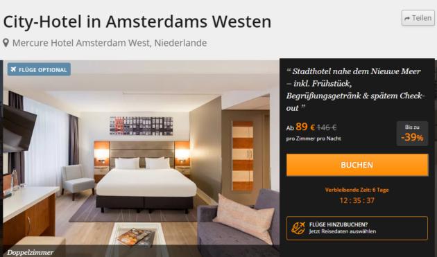 Wochenende In Amsterdam 2 Tage Stadtetrip Im Tollen 4 Hotel Mit