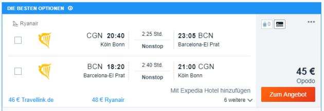 3 Tage BCN Angebot