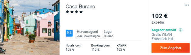 3 Tage Burano Hotel