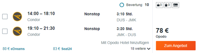 8 Tage Mykonos Flug