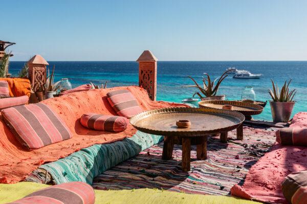 Ägypten Strand Kissen chillen