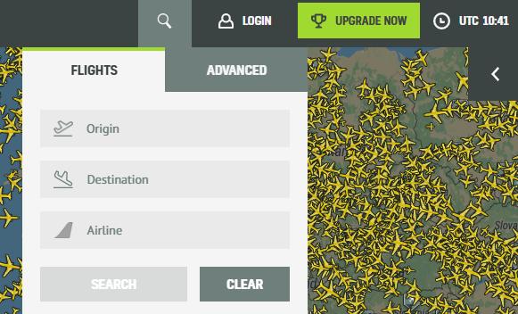 AirNav Radarbox Suche