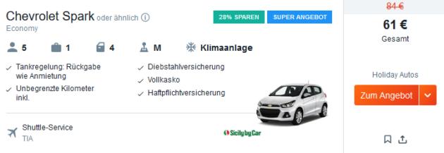 Albanien Mietwagen Angebot