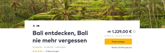 15 Tage Bali Rundreise