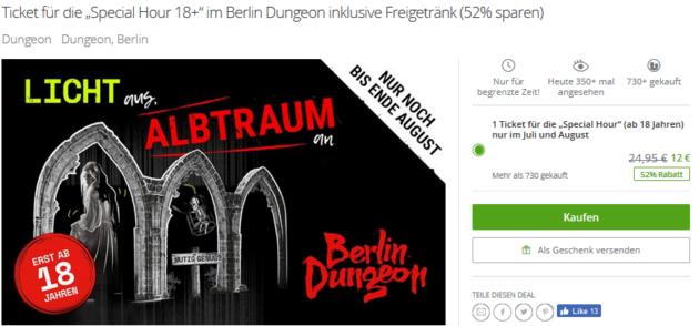 Berlin Dungeon Angebot