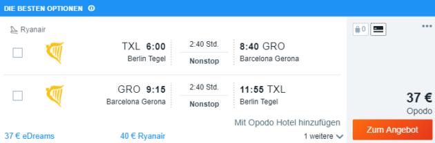 Berlin nach Girona