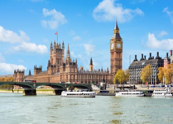 England Westminster Palace Flussblick