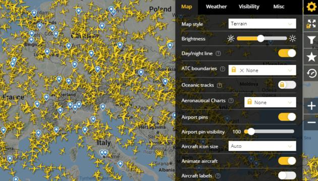 Flightradar24 Filter