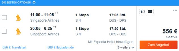 Flug Düsseldorf Denpasar