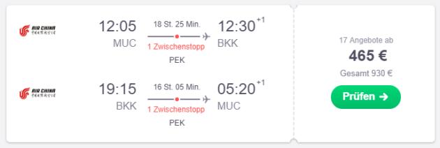 Flug München Bangkok