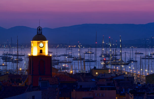 Frankreich Saint Tropez Nachts
