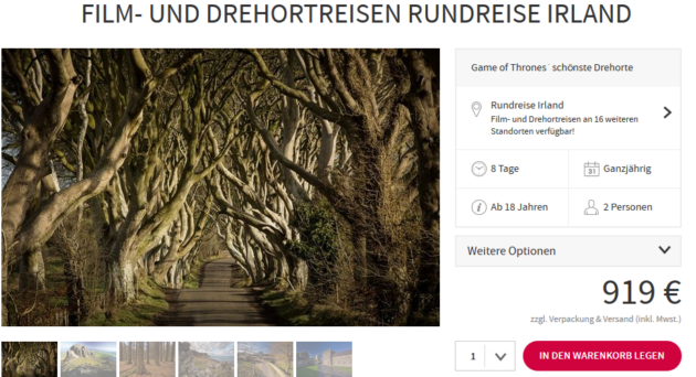 Game of Thrones Rundreise