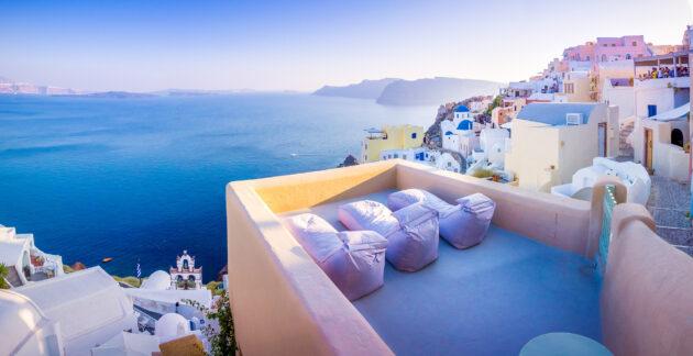 Griechenland Santorini Oia Aussicht