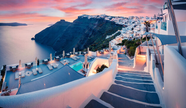 Griechenland Santorini Oia Sonnenuntergang