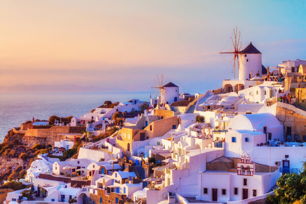Griechenland Santorini Oia Stadt