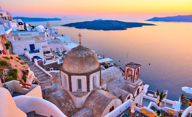 Griechenland Santorini Oia Turm