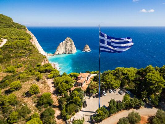 Griechenland Zakynthos Flagge