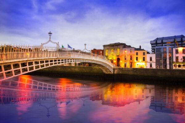 Irland Dublin Ha'Penny Brücke