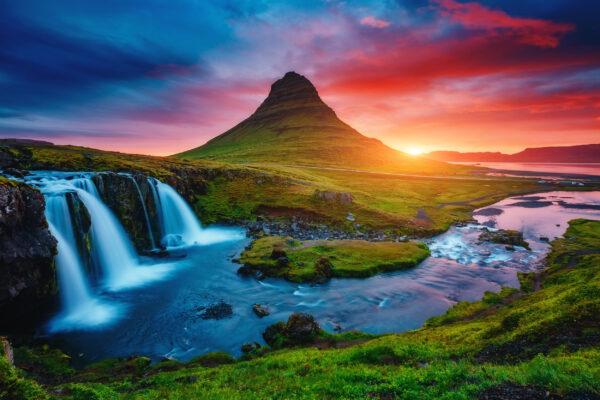 Island Wasserfälle Vulkan
