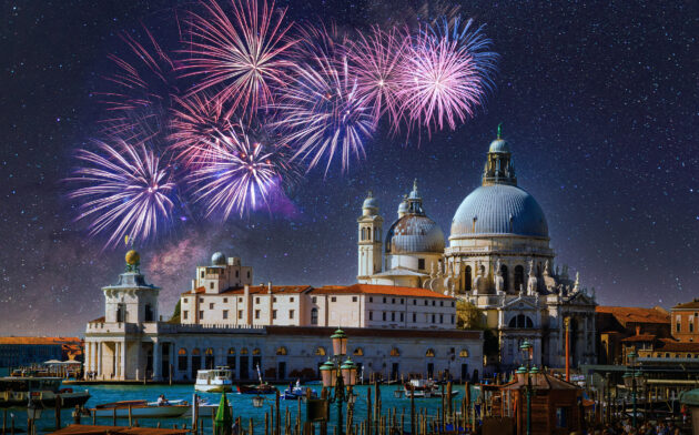 Italien Venedig Santa Maria Silvester